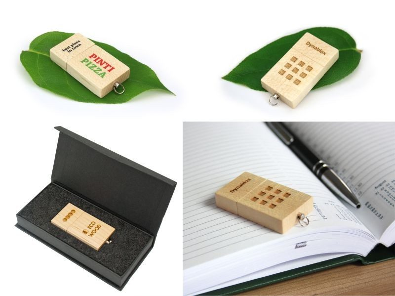 USB Flash Bellekler Eco Wood